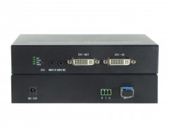 DVI光端机+环出+双向音频